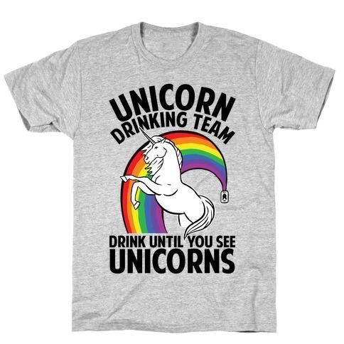 Unicorn Drinking Team T-Shirt