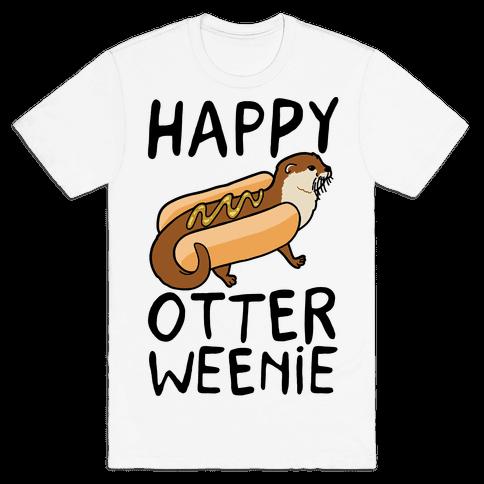 Happy Otterweenie Mens T-Shirt