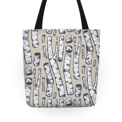 Birch Tree Cuttings Pattern Tote