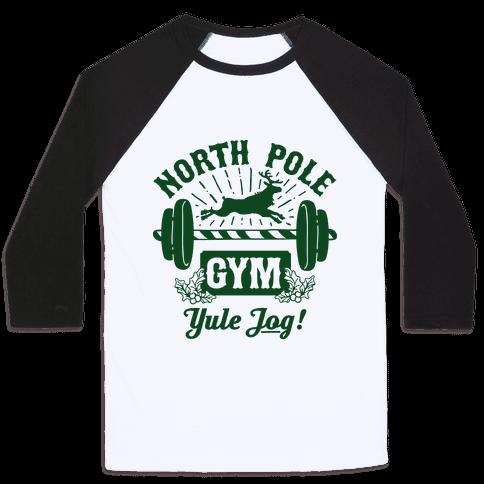 North Pole Gym Baseball Tee