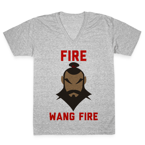 Fire, Wang Fire V-Neck Tee Shirt