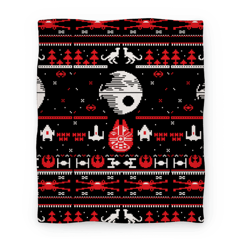 Scifi Spaceship Christmas Blanket