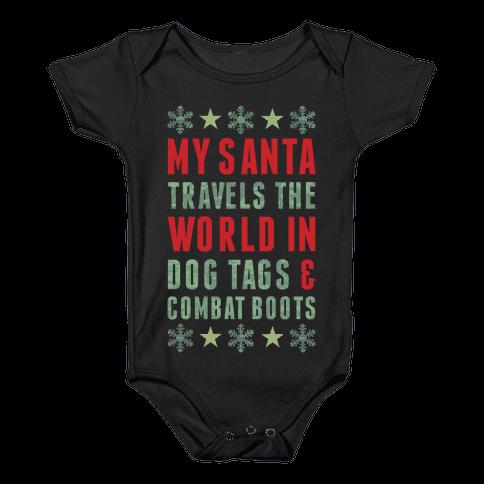 My Military Santa Baby Onesy