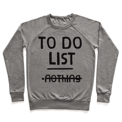 To Do List Pullover
