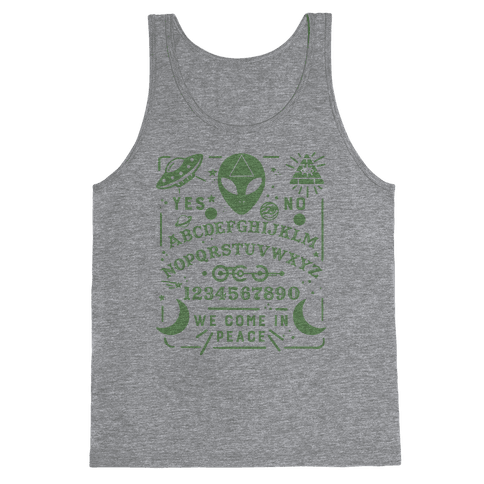 Occult Alien Ouija Board Tank Top