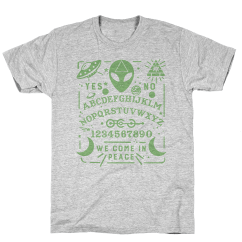 Occult Alien Ouija Board Mens T-Shirt