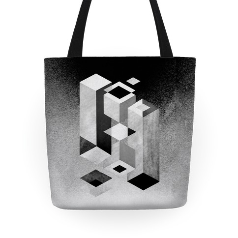 Geometry Optical Illusion Tote