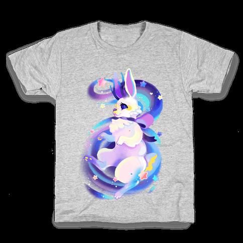 Neon Rainbow Jackalope Kids T-Shirt