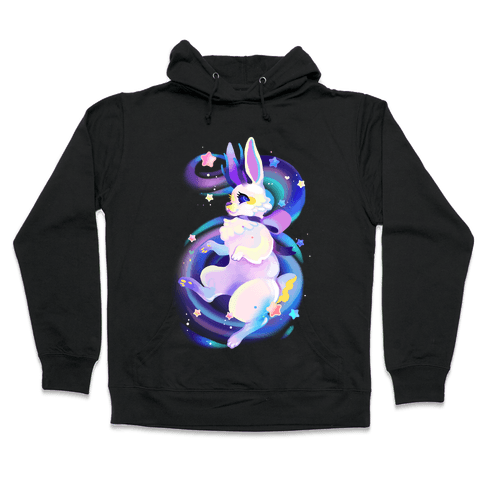 Neon Rainbow Jackalope Hooded Sweatshirt
