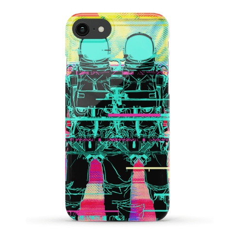 Twin Astronaut Glitch Phone Case
