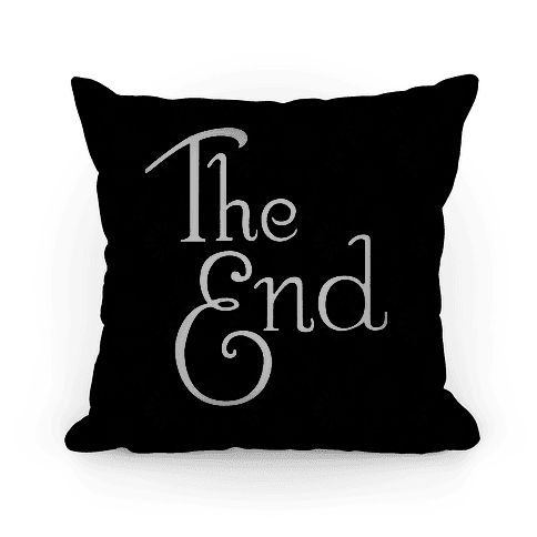 The End (Black) Pillow