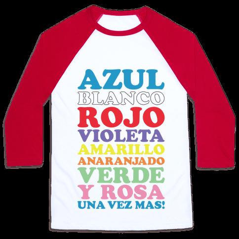 Spanish Color Song Baseball Tee