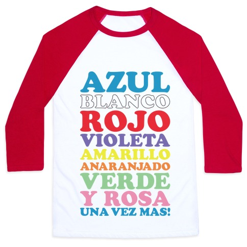 Spanish Color Song Baseball Tee
