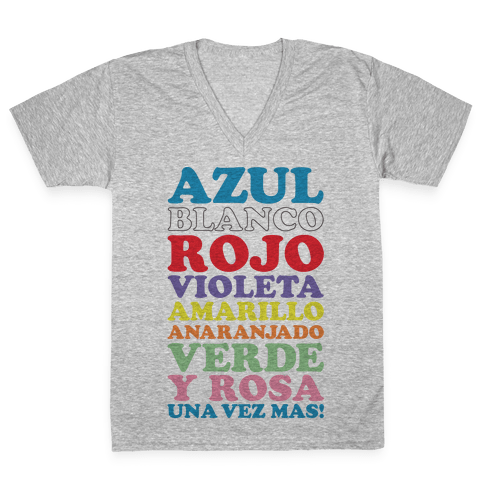 Spanish Color Song V-Neck Tee Shirt