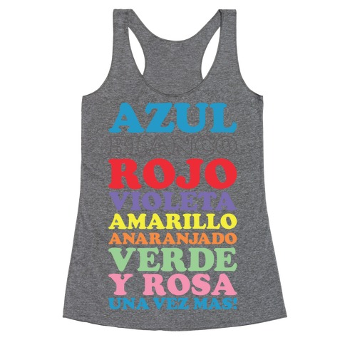 Spanish Color Song Racerback Tank Top