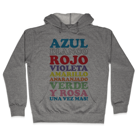 Spanish Color Song Hooded Sweatshirt