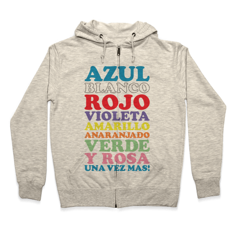 Spanish Color Song Zip Hoodie