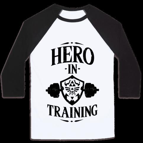Hero In Training Baseball Tee