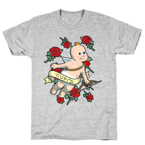 Cupid and the Roses Mens T-Shirt
