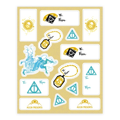 Wizard School Gift Tags Sticker/Decal Sheet