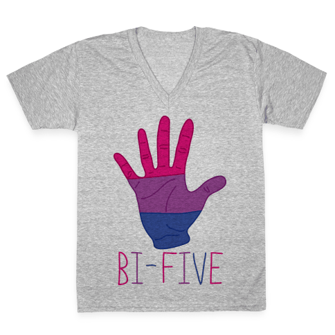 Bi-Five V-Neck Tee Shirt