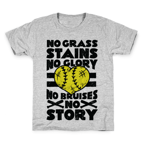 No Grass Stains No Glory  Kids T-Shirt