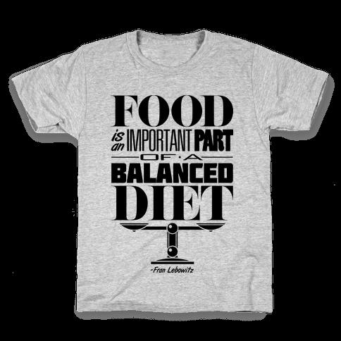 Food Diet Kids T-Shirt
