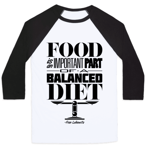 Food Diet Baseball Tee