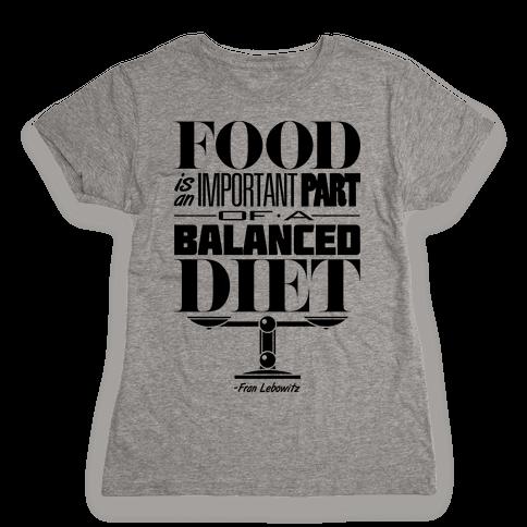 Food Diet Womens T-Shirt