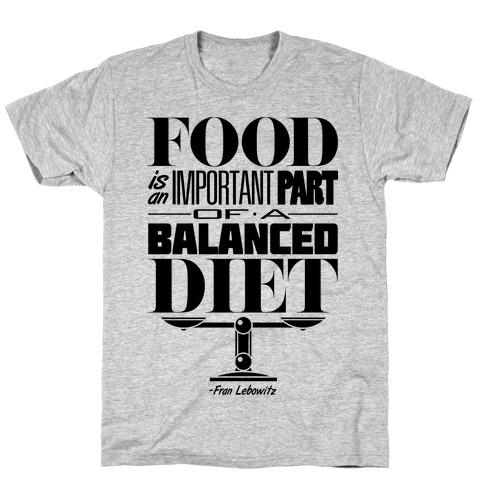 Food Diet Mens/Unisex T-Shirt