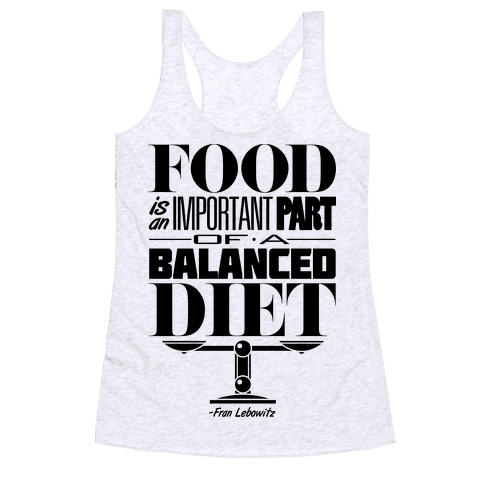 Food Diet Racerback Tank Top