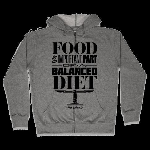 Food Diet Zip Hoodie