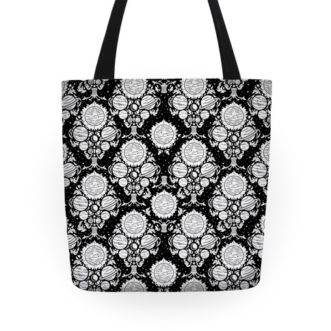 Victorian Planet Pattern Tote