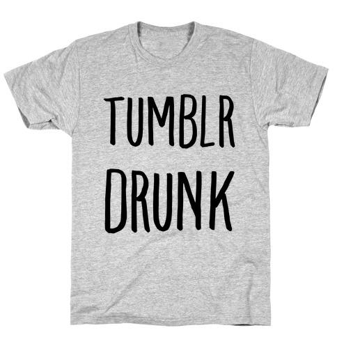Tumblr Drunk Mens/Unisex T-Shirt