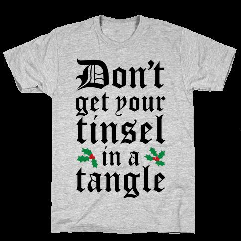 Tinsel Tangle Mens T-Shirt