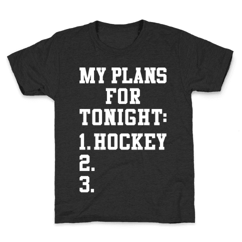 Hockey Plans Kids T-Shirt