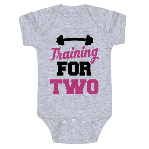 Training For Two Baby Onesy