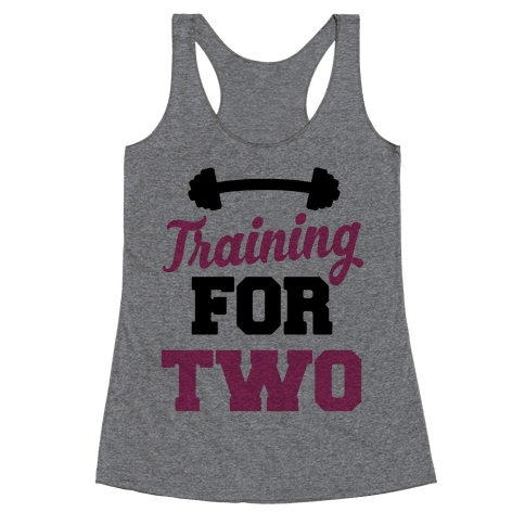 Training For Two Racerback Tank Top