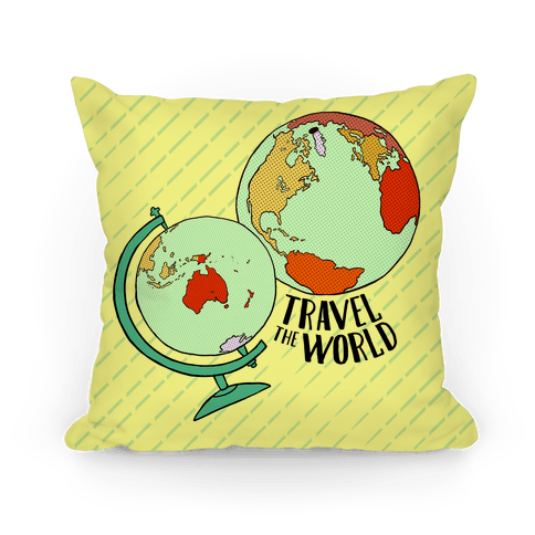 Wanderlust World Globes Pillow