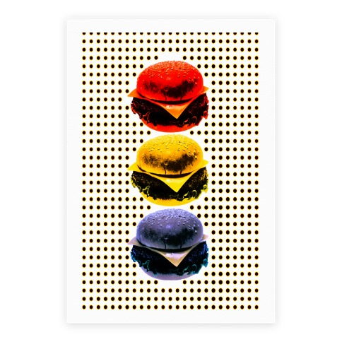 Primary Color Burgers Poster