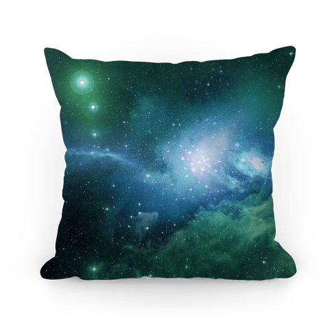 Mint Galaxy Pillow