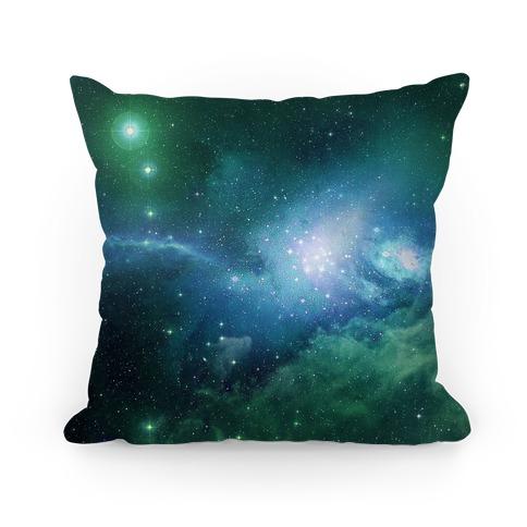 Mint Galaxy Pillow