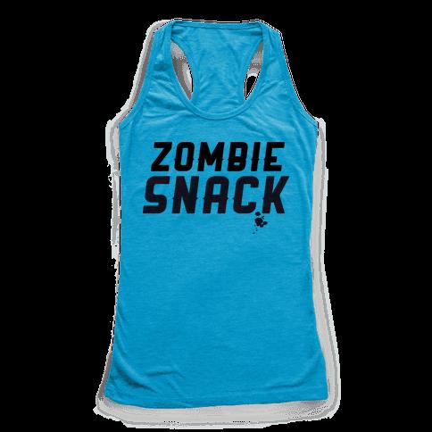 zombie snack Racerback Tank Top