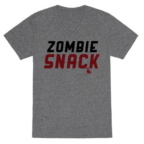 zombie snack V-Neck Tee Shirt