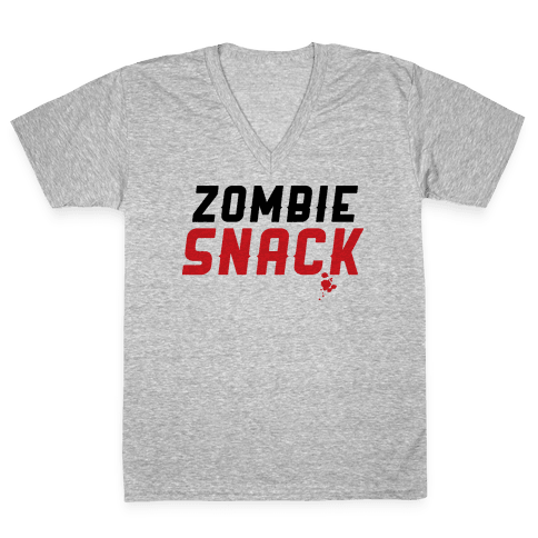 zombie snack V-Neck Tee Shirt