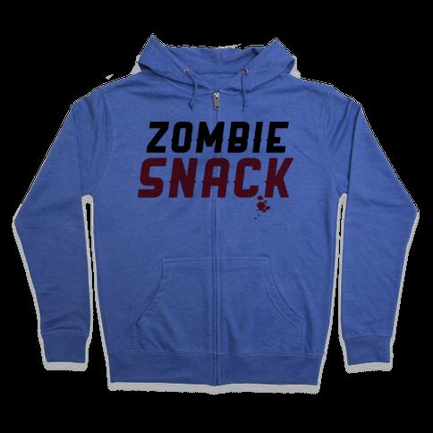 zombie snack Zip Hoodie
