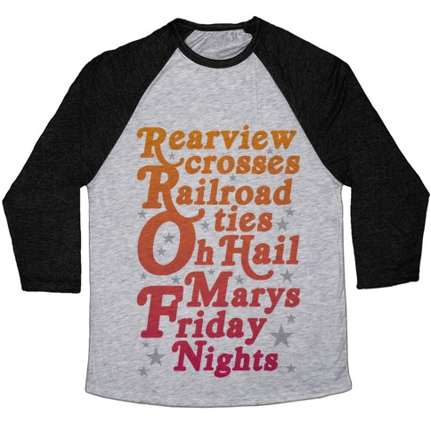 Rearview Crosses Baseball Tee