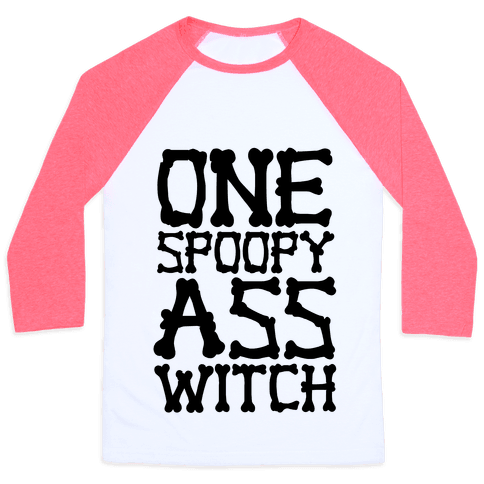 One Spoopy Ass Witch Baseball Tee