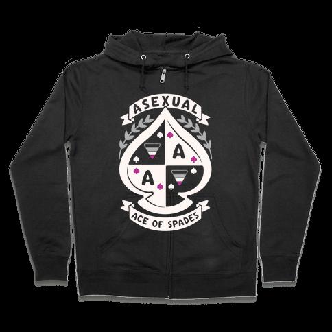 Asexual Crest Zip Hoodie