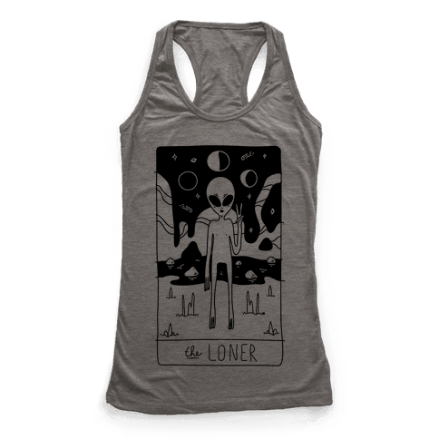 The Loner Tarot Card Racerback Tank Top